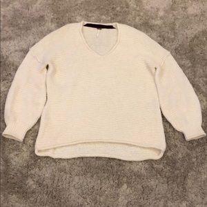 Free People Alpaca Blend Waffle Knit Tunic Sweater